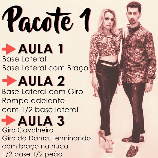 Bachata - BÁSICO - Pacote 1 / Contém 3 Aulas