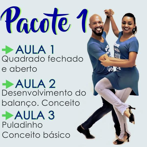 Samba de Gafieira- BÁSICO - Pacote 1 / Contém 3 Aulas