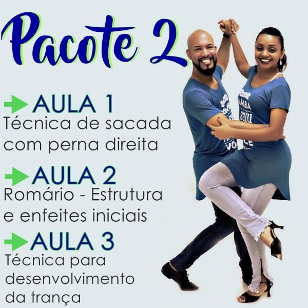 Samba de Gafieira- BÁSICO - Pacote 2 / Contém 3 Aulas